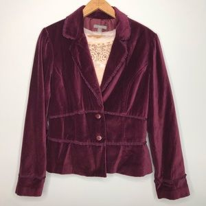 Apt. 9 Burgundy Velvet Blazer